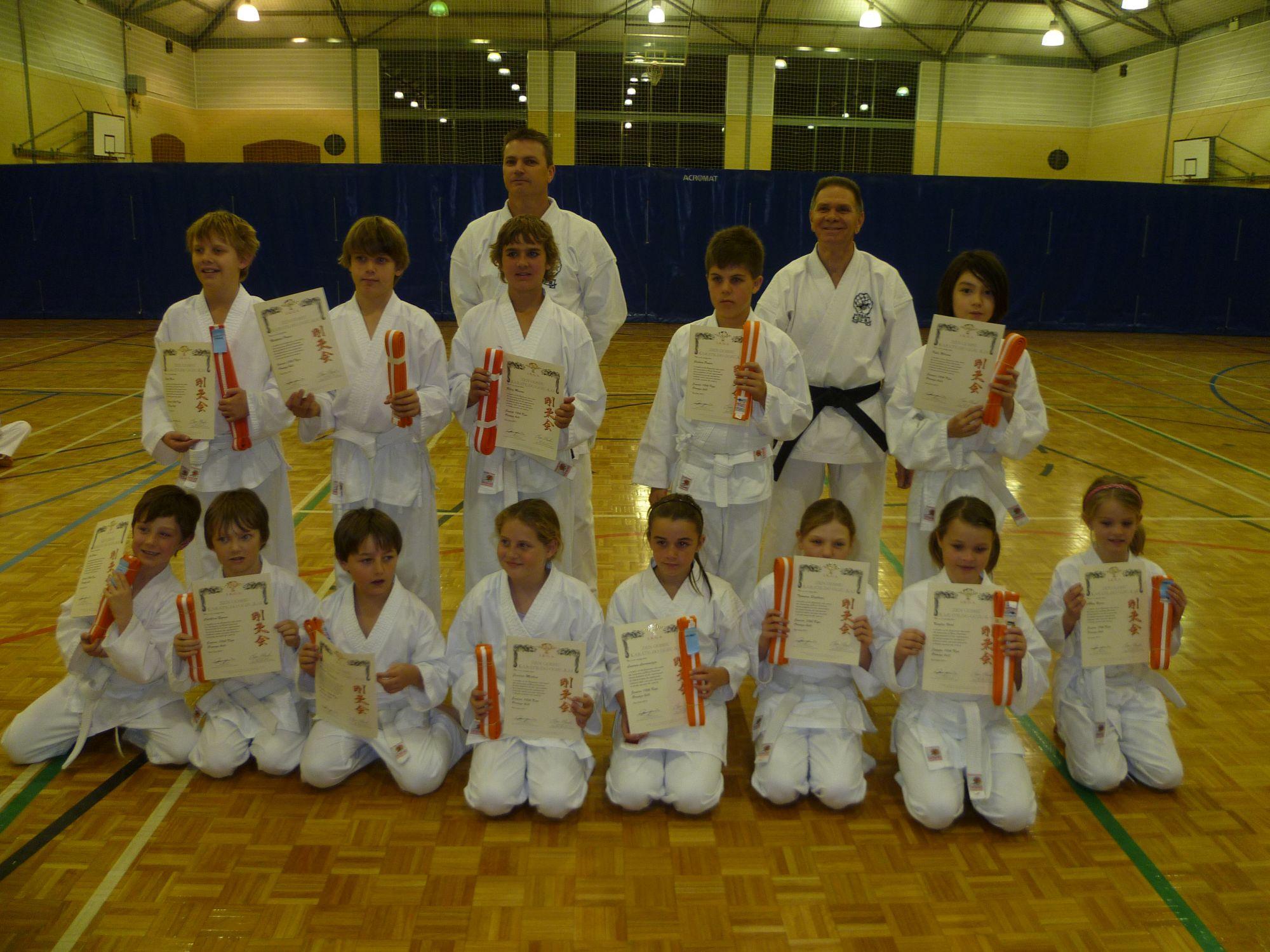 2011 july orange belt grading